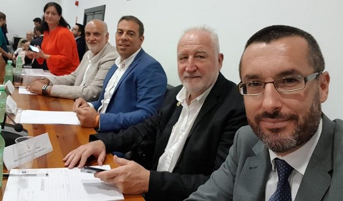 Peño, Vidal, Macías, Fernández y Franco representarán a La Línea 100x100 en la Mancomunidad