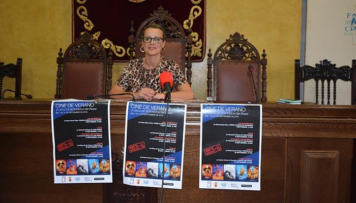 La delegada de Cultura de San Roque, Ana Ruiz, ha presentado el segundo ciclo del cine