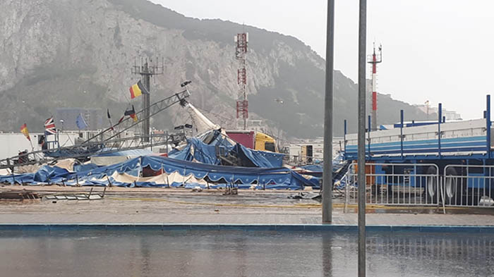 Circo Berlín, arrasado por el temporal