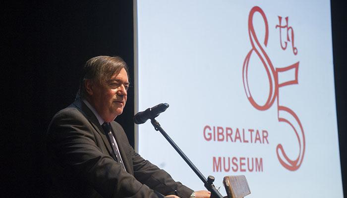 Clive Finlayson, durante la celebración del 85 aniversario del Museo de Gibraltar