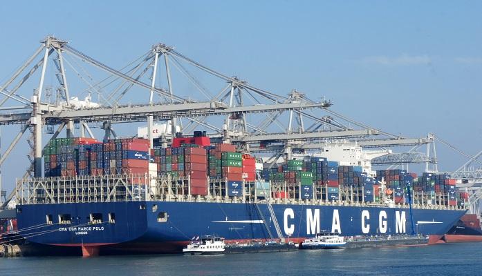 El 'Marco Polo', parado en el Puerto de Algeciras por un posible coronavirus