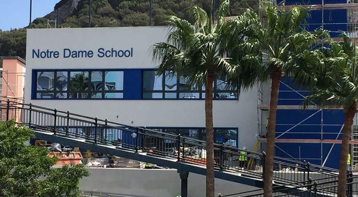 Uno de los centros educativos de Gibraltar