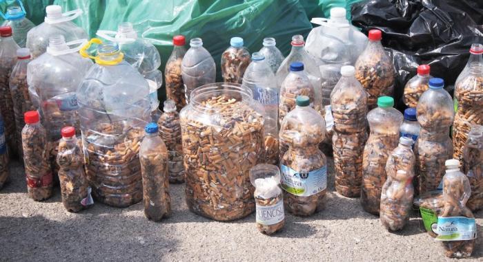 Colillas recogidas en el Día de la Limpieza el pasado 15 de septiembre