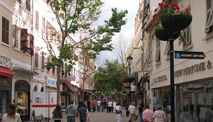 Imagen de archivo de una de las calles de Gibraltar