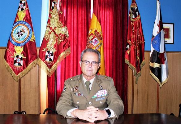 El general Alejandro Gómez Escámez, comandante general de Ceuta. Foto COMGECEU