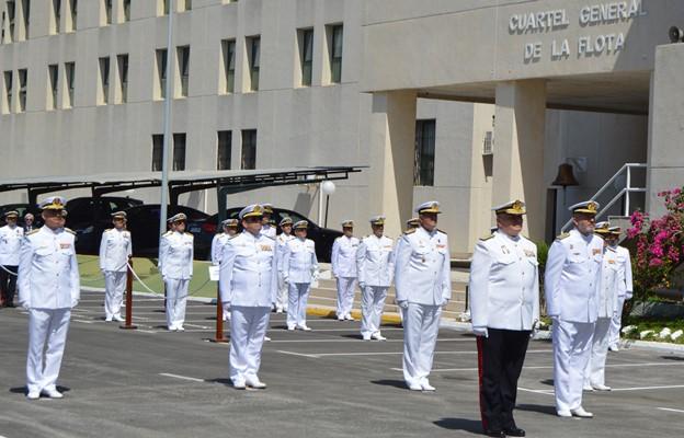 Un momento del acto celebrado hoy en el Cuartel General de la Flota en Rota. Foto ORP/CGFlota