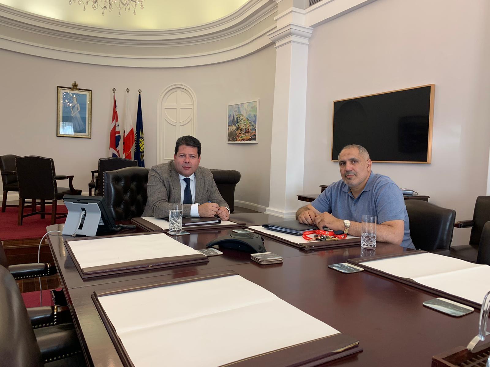 Reunión de Picardo con Douissi. Foto GG