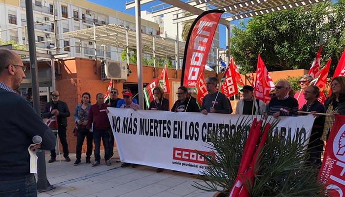 Imagen de archivo de un concentración por la seguridad en el trabajo en Algeciras