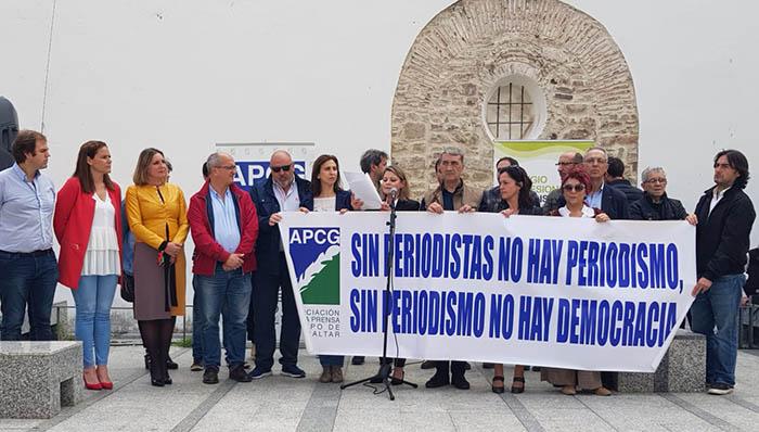 Concentración de periodistas hoy en Algeciras