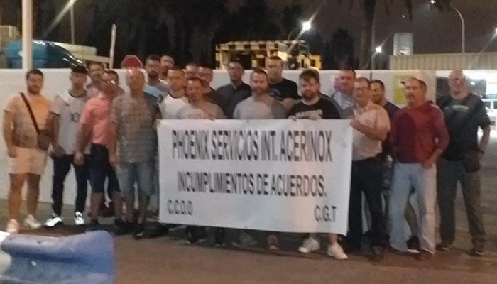 Imagen de archivo de una concentración de los trabajadores de Phoenix