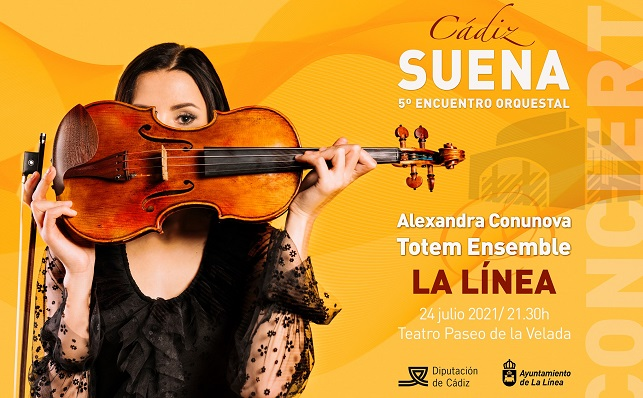 Cartel del concierto inaugural en el Teatro 'Paseo La Velada'. Foto: NG