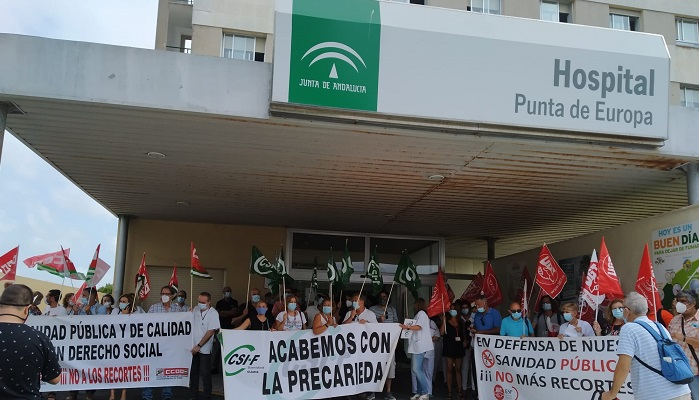 CSIF exige al SAS en Algeciras que reconozca la labor de todo su personal