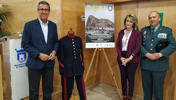 Diego González de la Torre y Pilar Pintor con el coronel Núñez
