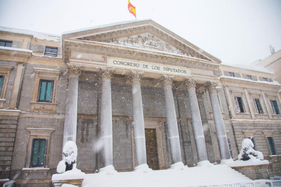 Imágenes del Congreso durante el paso de Filomena. Foto CD