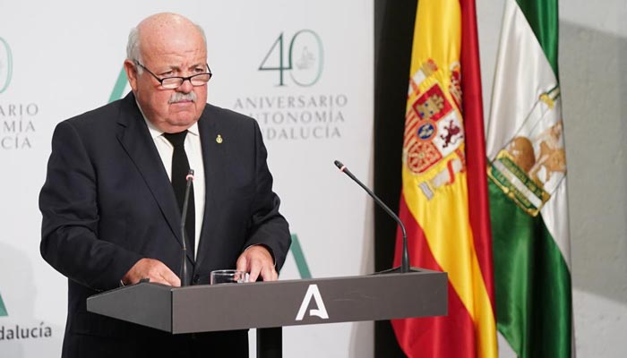 El consejero de Salud de la Junta de Andalucía, Jesús Aguirre, en imagen de archivo