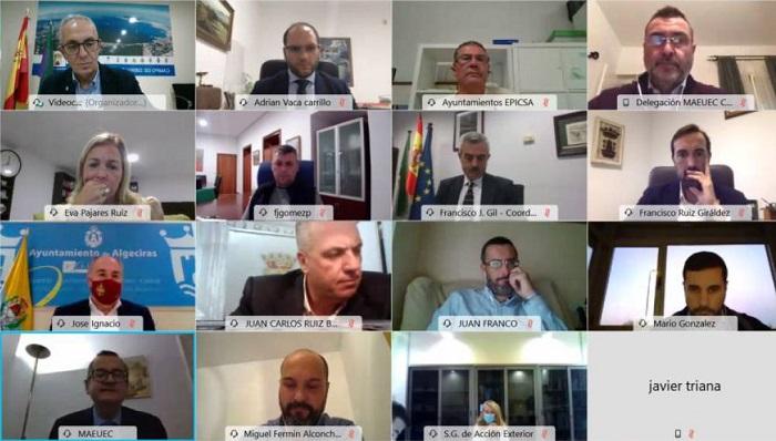 Una imagen del Consejo de Alcaldes celebrado de forma virtual. Foto: NG