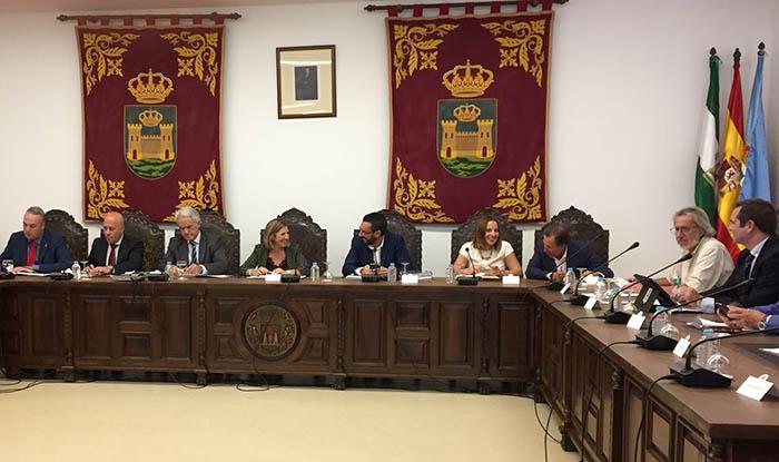 Reunión en La Línea del Consejo Económico y Social