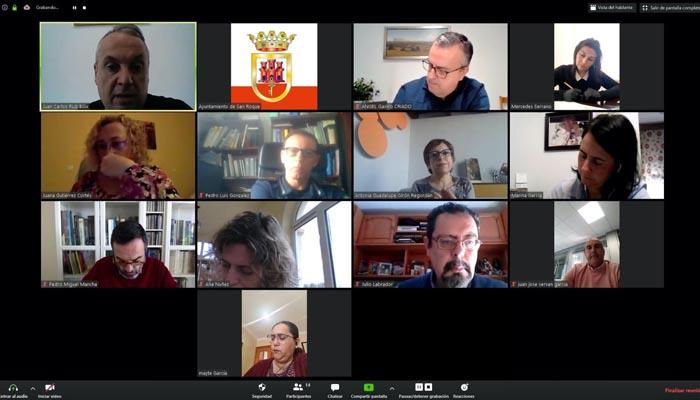 Los participantes en la reunión telemática