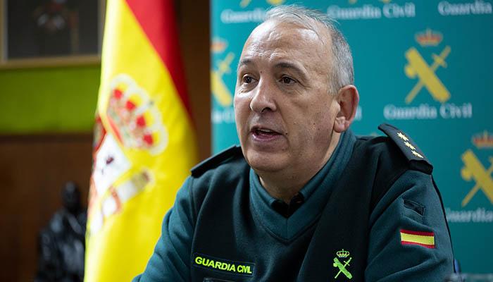 El coronel Núñez, jefe de la Comandancia de la Guardia Civil en Algeciras