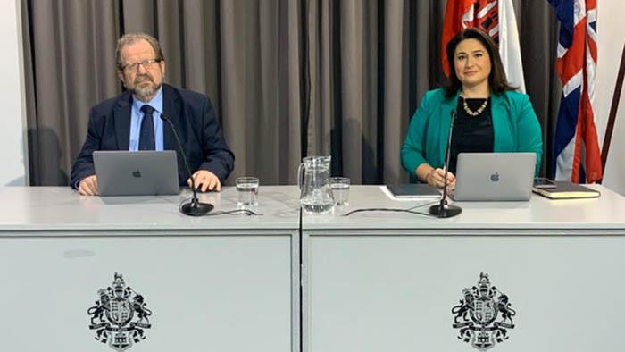 Cortes y Sacramento, en la comparecencia diaria del Gobierno de Gibraltar
