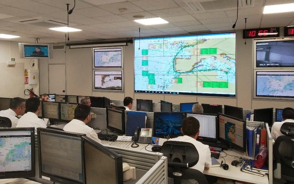 Sala de operaciones del COVAM, ubicado en Cartagena. Foto ORP Cartagena