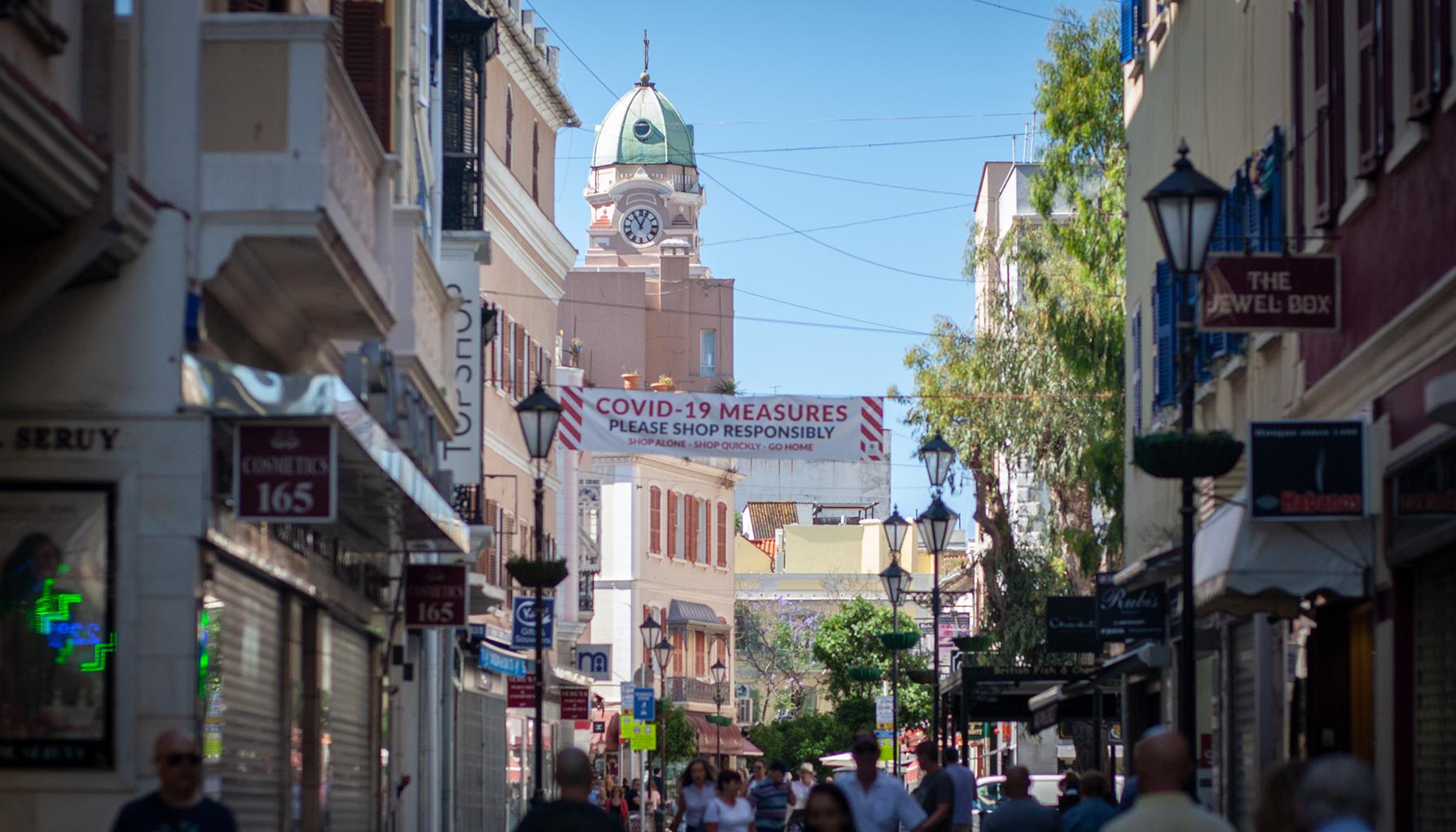 Calle peatonal de Gibraltar. Sergio Rodríguez.