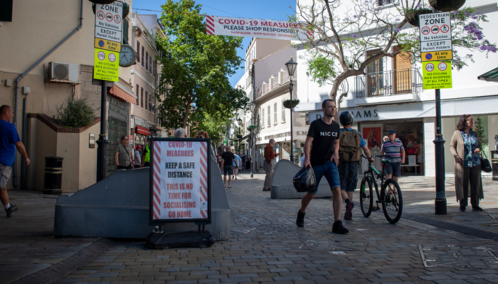 Sigue habiendo dos casos activos en Gibraltar y uno de un no residente. Sergio Rodríguez