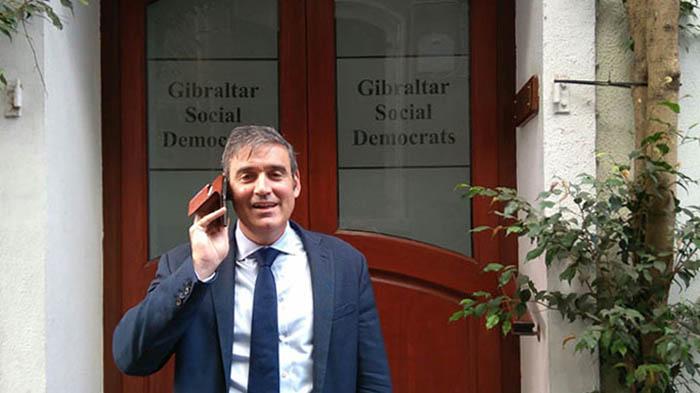 Daniel Feetham, en la puerta del GSD