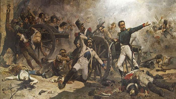 «Defensa del parque de artillería de Monteleón». Obra de Joaquín Sorolla. Biblioteca Museo Victor Balaguer. Villanueva y Geltrú