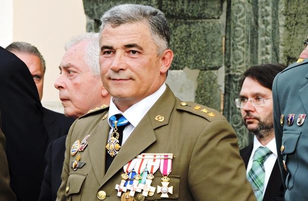 El coronel Navarro Quílez, en una imagen de cuando estaba destinado en la Comandancia General. Foto COMGECEU