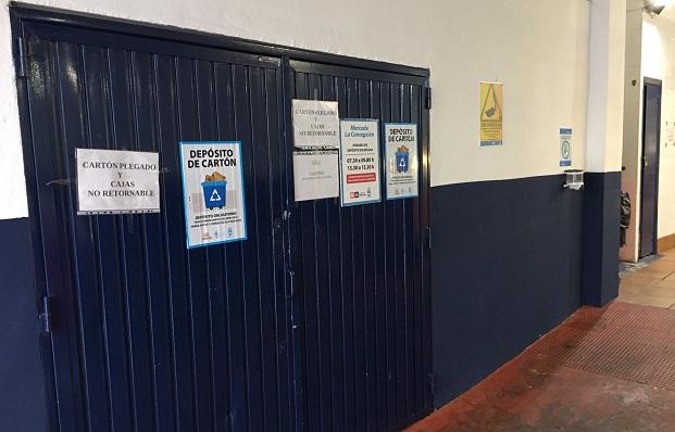 El Mercado cuenta con un nuevo espacio para el depósito de cajas de cartón