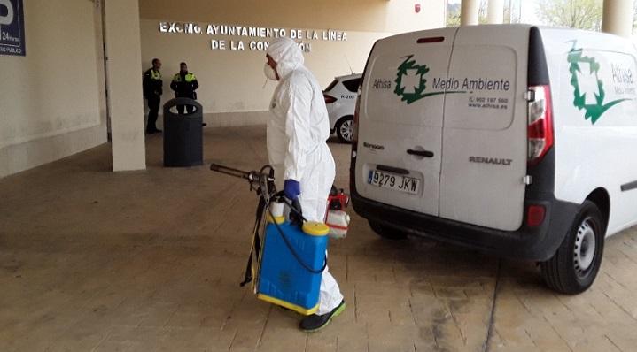 Los trabajos de desinfección tendrán lugar entre hoy y mañana