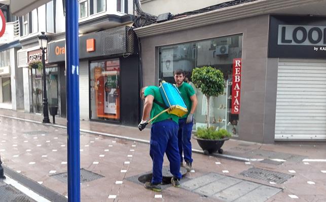 Los trabajos se están realizando en distintos puntos de la ciudad