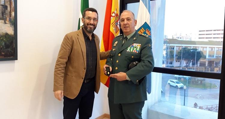 Juan Franco y Jesús Narciso Núñez, esta mañana en La Línea