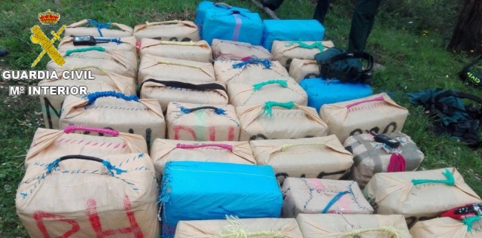 Imagen de archivo de otra operación de la Guardia Civil contra la droga