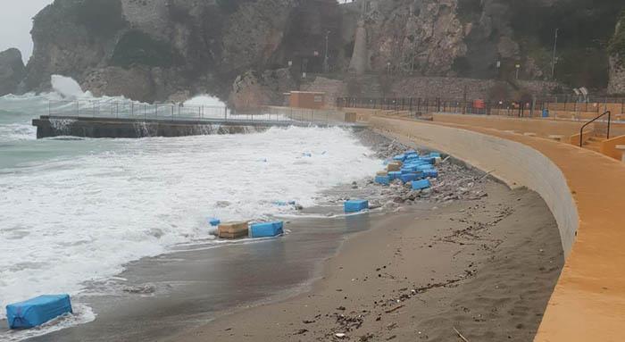 Fardos de droga en la costa de Gibraltar