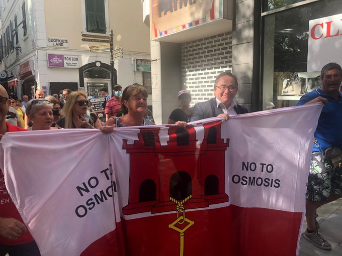 El GSD acudió a la manifestación de 'Open Your Eyes'
