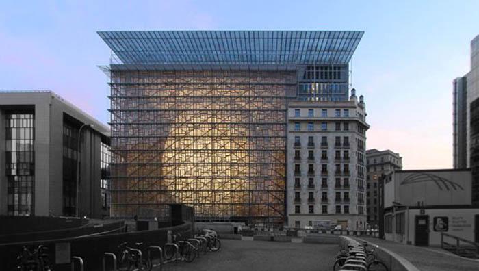 Edificio Europa en Bruselas, sede mañana del Comité de Representantes Permanentes
