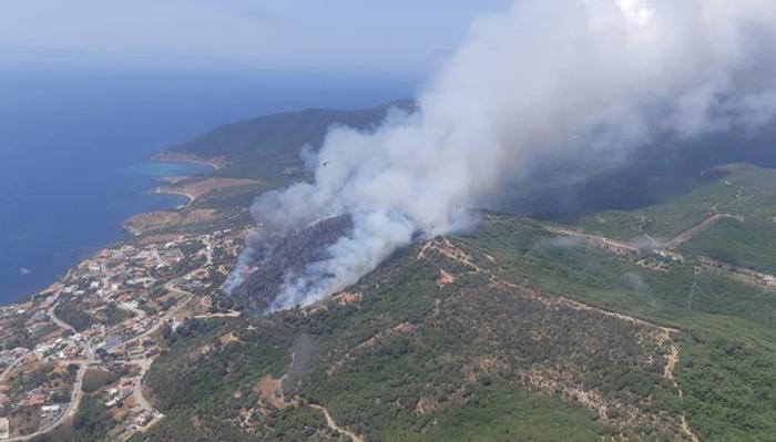Imagen del incendio que ha emitido el Infoca