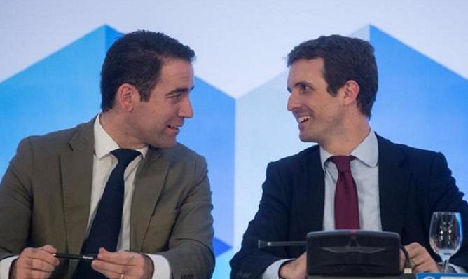 García Egea y Pablo Casado, en una imagen de archivo