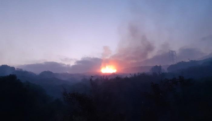 Declarado un incendio forestal en el paraje de El Carrascal en Tarifa