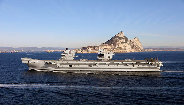 "El ""HMS Queen Elizabeth"" llega a Gibraltar. Foto InfoGibraltar"
