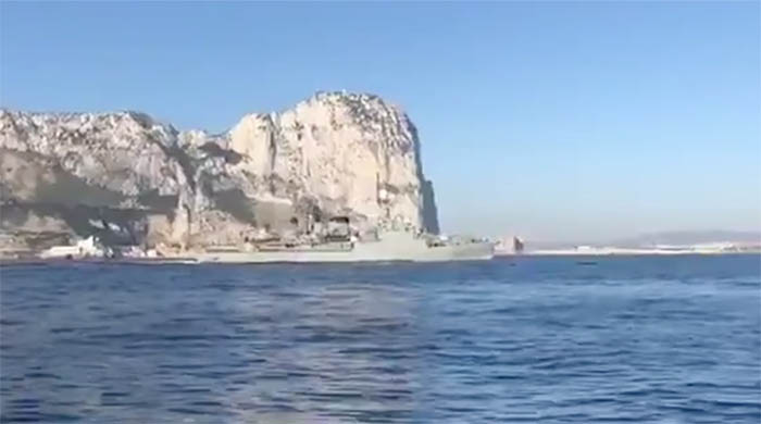 El patrullero, en una imagen del video