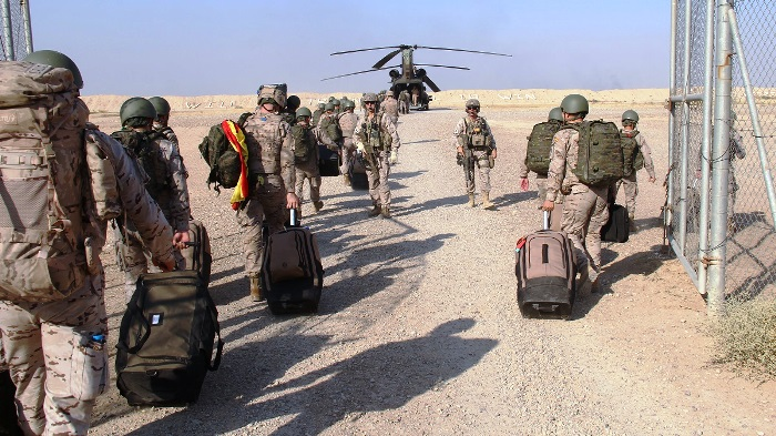 Imagen de archivo de relevo de contingente en Besmayah (Irak). Foto EMAD