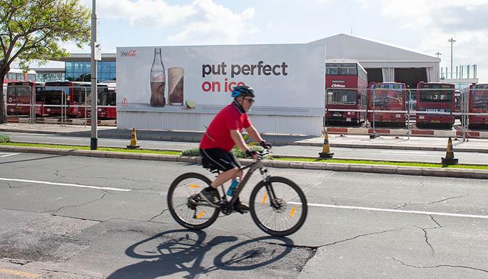 En bicicleta por Gibraltar. Foto Sergio Rodríguez
