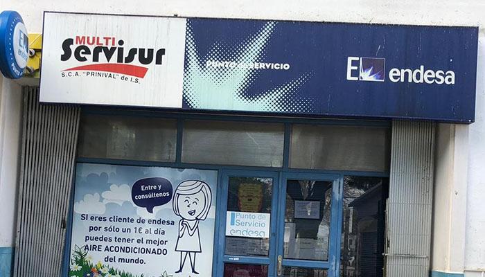 Imagen de la entrada a la oficina de Endesa en San Roque