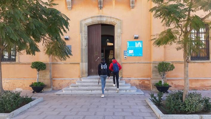 Imagen actual de la entrada del edificio de la Comandancia