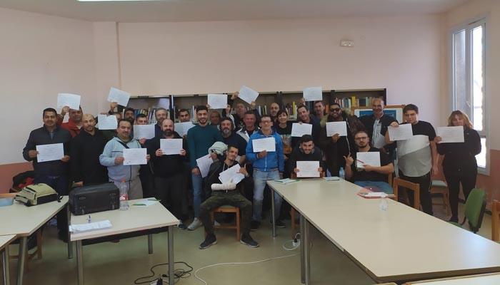 Los participantes en el curso de formación