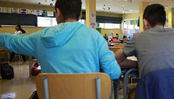Imagen de escolares en las aulas