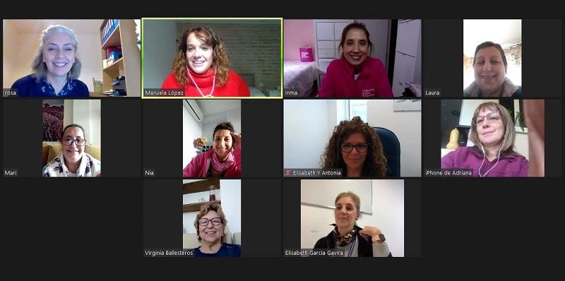 Una imagen del encuentro virtual. Foto: SAS